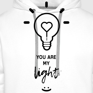 you are my light - Mannen Premium hoodie