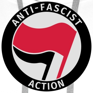 Anti-Fascist Action Tee shirts - Sweat-shirt à capuche Premium pour hommes