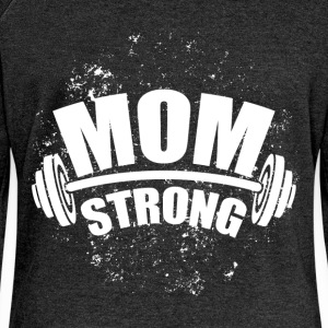 Mom strong - Women's Boat Neck Long Sleeve Top