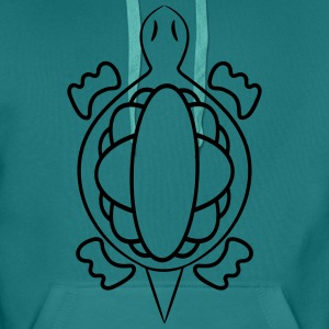 Turtle funny witty T-Shirts - Men's Premium Hoodie