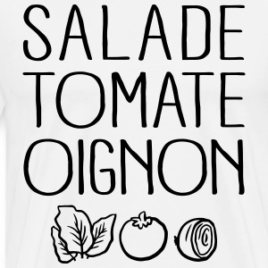 Salade Tomate Oignon Manches longues - T-shirt Premium Homme