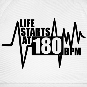 Life starts at 180 BPM Sports wear - Baseball Cap