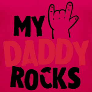 My daddy rocks Langarmshirts - Frauen Premium Tank Top