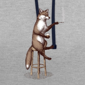 The Fox at the Bar T-Shirts - Kontrast-Hoodie