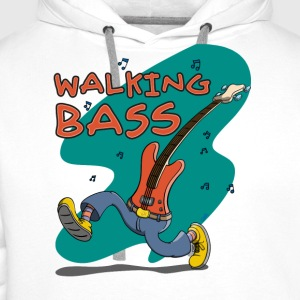 Walking Bass - Jazz Bassgitarre Tee shirts - Sweat-shirt à capuche Premium pour hommes