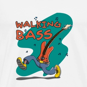 Walking Bass - Jazz Bassgitarre Babybody - Premium-T-shirt herr