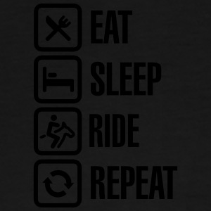 Eat sleeps horse ride repeat Tasker & rygsække - Herre premium T-shirt