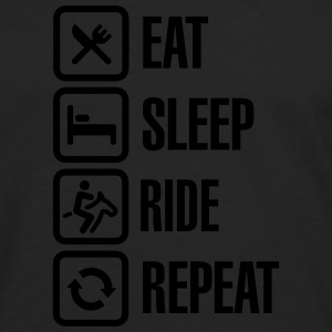 Eat sleeps horse ride repeat Sweaters - Mannen Premium shirt met lange mouwen