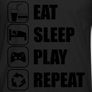 Eat,sleep,play,repeat Gamer Gaming  - Men's Premium Longsleeve Shirt