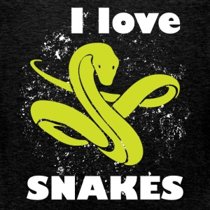 I love snakes - Men's Premium Tank Top