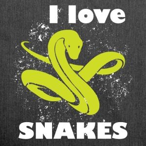 I love snakes - Shoulder Bag made from recycled material