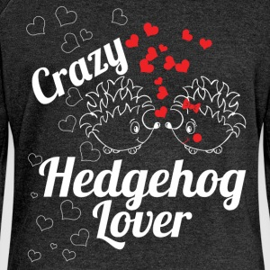 Crazy hedgehog lover - Women's Boat Neck Long Sleeve Top
