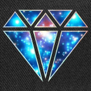 Diamond, galaxy style, space, diamant, triangel T-shirts - Snapbackkeps