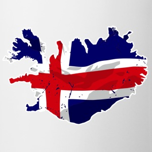 Iceland Flag Map T-Shirts - Tasse