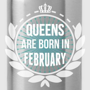 Queens Are Born In February Hoodies & Sweatshirts - Water Bottle