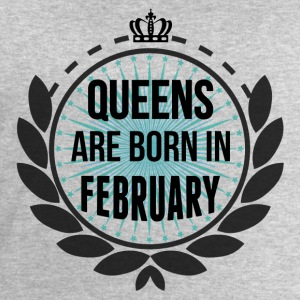Queens Are Born In February Long Sleeve Shirts - Men's Sweatshirt by Stanley & Stella