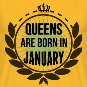 Queens Are Born In January Tops - Men's T-Shirt