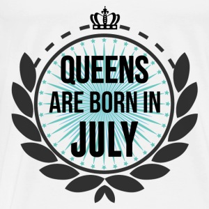 Queens Are Born In July Baby Bodysuits - Men's Premium T-Shirt