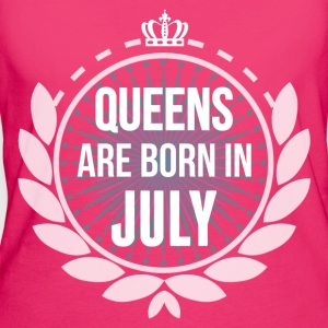 Queens Are Born In July Bags & Backpacks - Women's Organic T-shirt