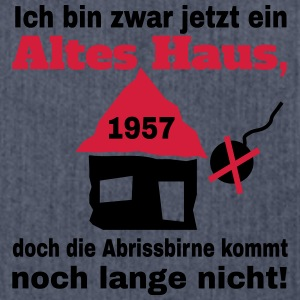 Altes Haus 1957 T-Shirts - Schultertasche aus Recycling-Material