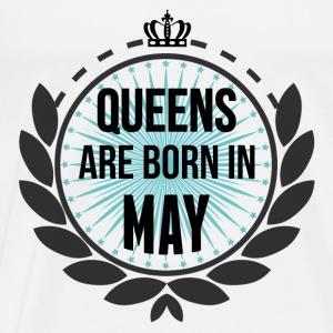 Queens Are Born In May Tops - Men's Premium T-Shirt