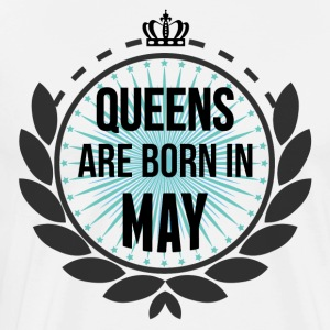 Queens Are Born In May  Aprons - Men's Premium T-Shirt