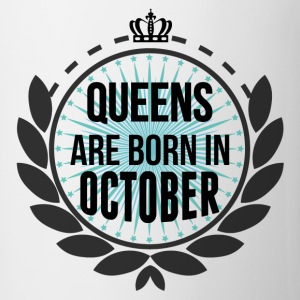 Queens Are Born In October T-Shirts - Mug