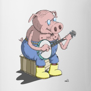 The Hillbilly banjo playing pig Shirts - Mug