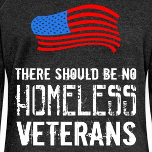 There should be no homeless veterans  - Women's Boat Neck Long Sleeve Top