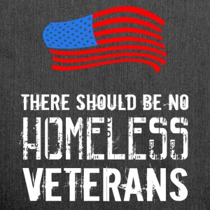 There should be no homeless veterans  - Shoulder Bag made from recycled material