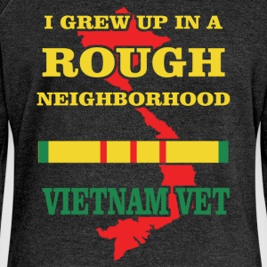 I grew up in a rough neighborhood Vietnam Vet - Women's Boat Neck Long Sleeve Top
