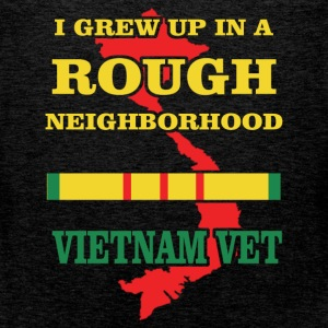 I grew up in a rough neighborhood Vietnam Vet - Men's Premium Tank Top