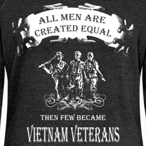All men are created equal then few became Vietnam  - Women's Boat Neck Long Sleeve Top