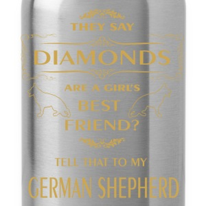 They say diamonds are a girl's best friend? Tell t - Water Bottle