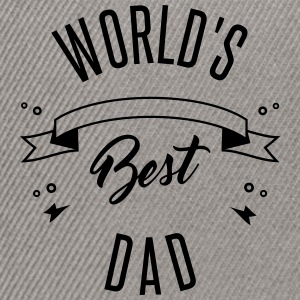 WORLD'S BEST DAD - Czapka typu snapback