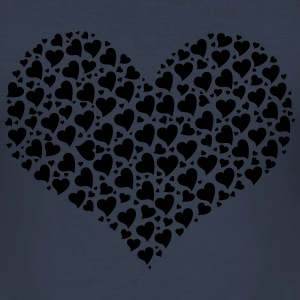 Hearts - Männer Slim Fit T-Shirt