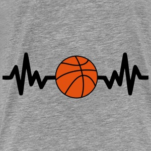 basket basketball is life Sweaters - Mannen Premium T-shirt