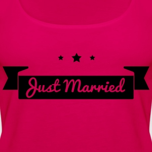 Just married  T-skjorter - Premium singlet for kvinner