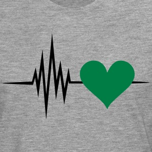 Pulse, frequency, heartbeat, vegan heart rate T-Shirts - Men's Premium Longsleeve Shirt