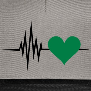 Pulse, frequency, heartbeat, vegan heart rate T-Shirts - Snapback Cap