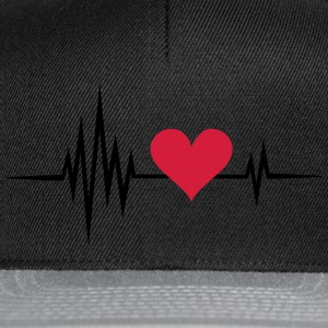 Heart rate, pulse, heartbeat, I love you, Infinity - Snapback Cap