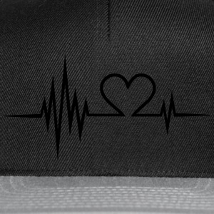 Pulse, frequency, heartbeat, Valentines Day, heart T-Shirts - Snapback Cap