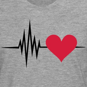 Pulse, frequency, heartbeat, I Love you heart rate T-Shirts - Men's Premium Longsleeve Shirt