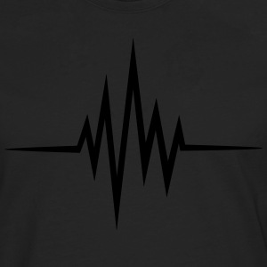 Pulse, frequency, heartbeat, music, heart rate T-Shirts - Men's Premium Longsleeve Shirt
