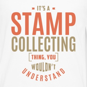 Stamp Collecting T-shirt - Men's Premium Longsleeve Shirt