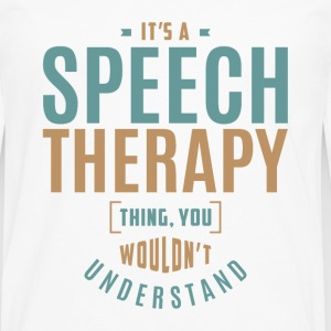 Speech Therapy T-shirt - Men's Premium Longsleeve Shirt