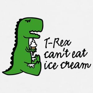 T-rex can't eat ice cream Mobil- & surfplattefodral - Premium-T-shirt herr