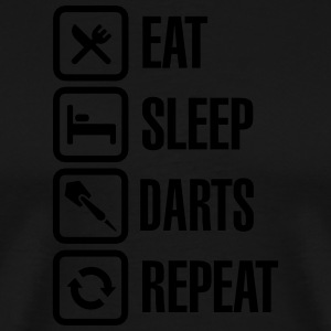 Eat - Sleep - Darts - Repeats Tabliers - T-shirt Premium Homme