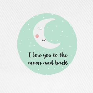 i_love_you_to_the_moon_and_back_ T-Shirts - Baseballkappe