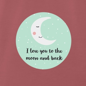i_love_you_to_the_moon_and_back_ Baby Bibs - Men's Premium T-Shirt